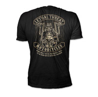 Lethal Threat Men's Spider Biker Black T-Shirt