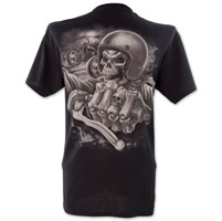 Lethal Threat Skull Crew Black T-Shirt