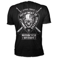 Lethal Threat Men's Zombie Defense Black T-shirt