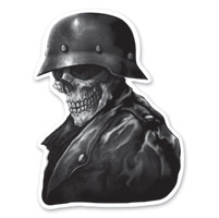 Lethal Threat Biker From Hell Mini Decal