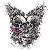 Lethal Threat Rude & Crude Eternal Love Mini Decal