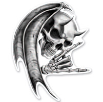 Lethal Threat Rude & Crude Devil Skull Mini Decal