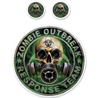 Lethal Threat Rude & Crude Zombie Outbreak Mini Decal