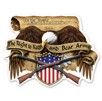 Lethal Threat Rude & Crude 2nd Amendment Eagle Mini Decal