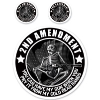 Lethal Threat Rude & Crude 2nd Amendment Skull Mini Decal