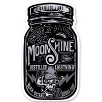 Lethal Threat Rude & Crude Moonshine Mini Decal