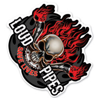 Lethal Threat Rude & Crude Loud Pipes Mini Decal