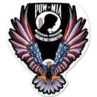 Lethal Threat Rude & Crude POW MIA Mini Decal