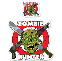 Lethal Threat Rude & Crude Zombie Hunter Mini Decal