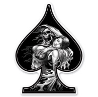 Lethal Threat Rude & Crude Reaper Girl Mini Decal