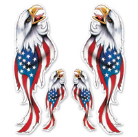 Lethal Threat Patriotic Eagles Decal
