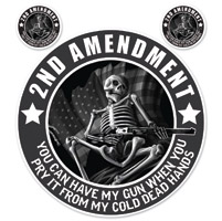 Lethal Threat 2nd Amendment Skeleton Decal