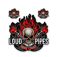 Lethal Threat Loud Pipes Saves Lives Decal