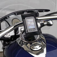 Leader eCaddy Ultra Chrome Waterproof Phone/iPod/MP3 Mount for 1″ Bars