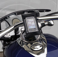 Leader eCaddy Ultra Chrome Waterproof Phone/iPod/MP3 Mount for 1-1/4″ Bars