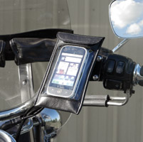 Leader eCaddy Ultra Chrome Waterproof Cell Phone /iPod/MP3 Mount for Harley Controls