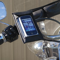 Leader eCaddy Ultra Black Waterproof Cell Phone /iPod/MP3 Mount for Harley Controls