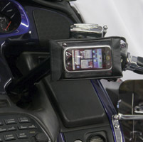 Leader eCaddy Ultra Chrome Waterproof Cell Phone /iPod/MP3 Mount for Gold Wing Controls