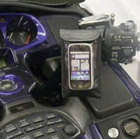 Leader eCaddy Ultra Black Waterproof Phone/iPod/MP3 Mount for Gold Wing Controls