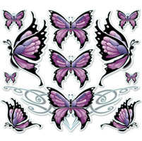 Lethal Threat Butterfly Sheet Large Decal