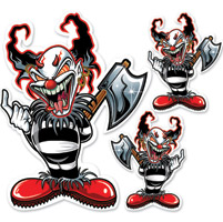 Lethal Threat Ax Clown Large Decal