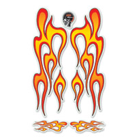 Lethal Threat Hot Rod Flames Realistic Glitter Decal
