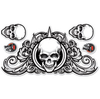 Lethal Threat Swirl Skulls Decal