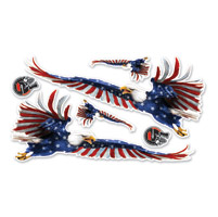Lethal Threat USA Flag Eagle Decal Set