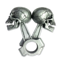 Lethal Threat Piston Skull 3-D Emblem