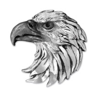 Lethal Threat Eagle Head 3-D Emblem