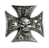 Lethal Threat Iron Cross 3-D Emblem