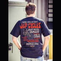 J&P Cycles® Heavy Metal Thunder Navy Pocket T-Shirt