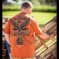 J&P Cycles® Pinstripe Chrome Texas Orange T-Shirt