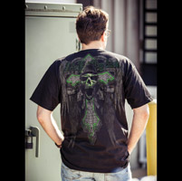 J&P Cycles® Men's Angel of Death Black T-Shirt