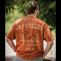 J&P Cycles® Power, Strength and Speed Texas Orange T-Shirt
