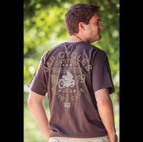 J&P Cycles® Motor Club Chocolate Brown T-Shirt