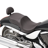 Drag Specialties Low-Profile Touring Seat with Mild Stich