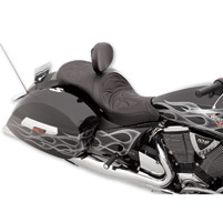 Drag Specialties Low-Profile Touring Crusade Seat with Driver Backrest