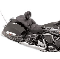 Drag Specialties Low-Profile Touring Pillow Seat with Driver Backrest