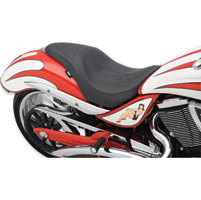 Drag Specialties Predator 1-Up Flame Stitch Seat
