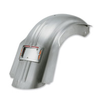 Bagger-Werx Ribbed Skirted Rear Fender with LED License Plate Frame
