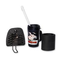 Hog Trough Locking Left Side Glove Box Cover with Black Drink Holder