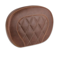 Mustang Diamond Stitch Distressed Brown Setback Sissy Bar Pad