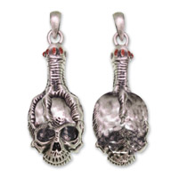 Hair Glove Skull Clutched by Talon Zipper Pull