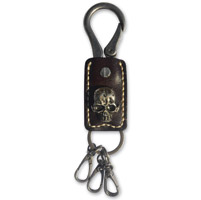 Hair Glove Black Leather G-Skull Key Chain