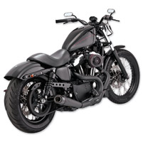 Roland Sands Design Slant 2 into 1 Black Exhaust System