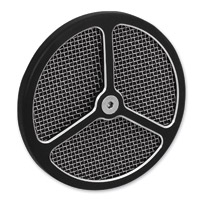Wimmer Custom Cycle Air Star Cover Black with Stainless Screen 3 Window Black Insert