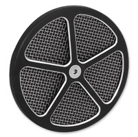 Wimmer Custom Cycle Air Star Cover Black with Stainless Screen 5 Window Black Insert