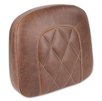 Mustang Diamond Stitch Bracket Style Brown Sissy Bar Pad