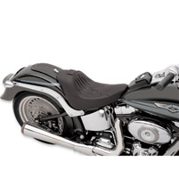 Drag Specialties Flame Stitch Solo Seat with Backrest Receiver